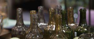 Glasflaschen Dekoration